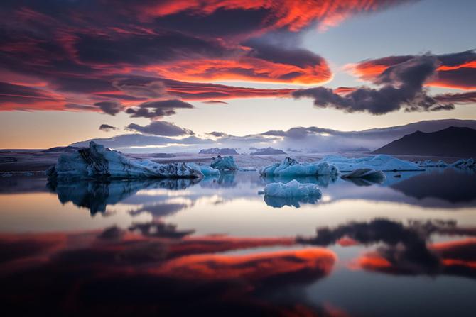 Изумительные виды белых ночей за полярным кругом