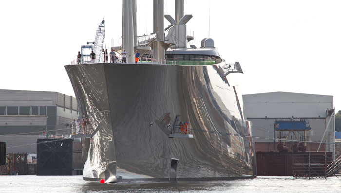 Russian billionaires mammoth 360 million sailing yacht a superyacht with masts taller than big ben dwarves tankers
