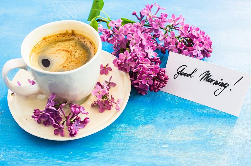 Картинки доброе утро с кофе позитивные