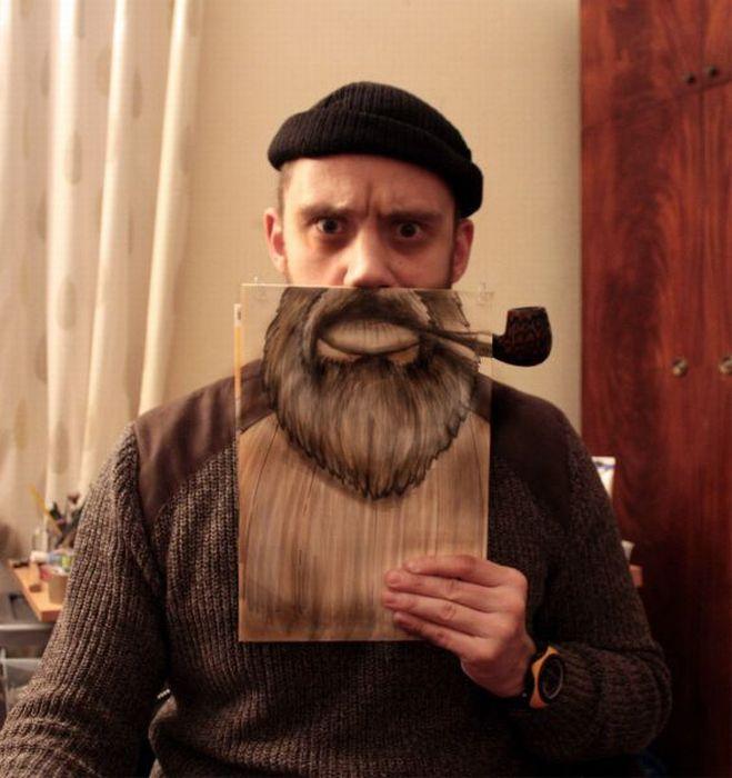 Картинки с бородой прикольные, анимация утро доброе
