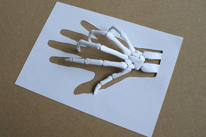 поделки из бумаги цветной на белом листе индийской касторки тонированные