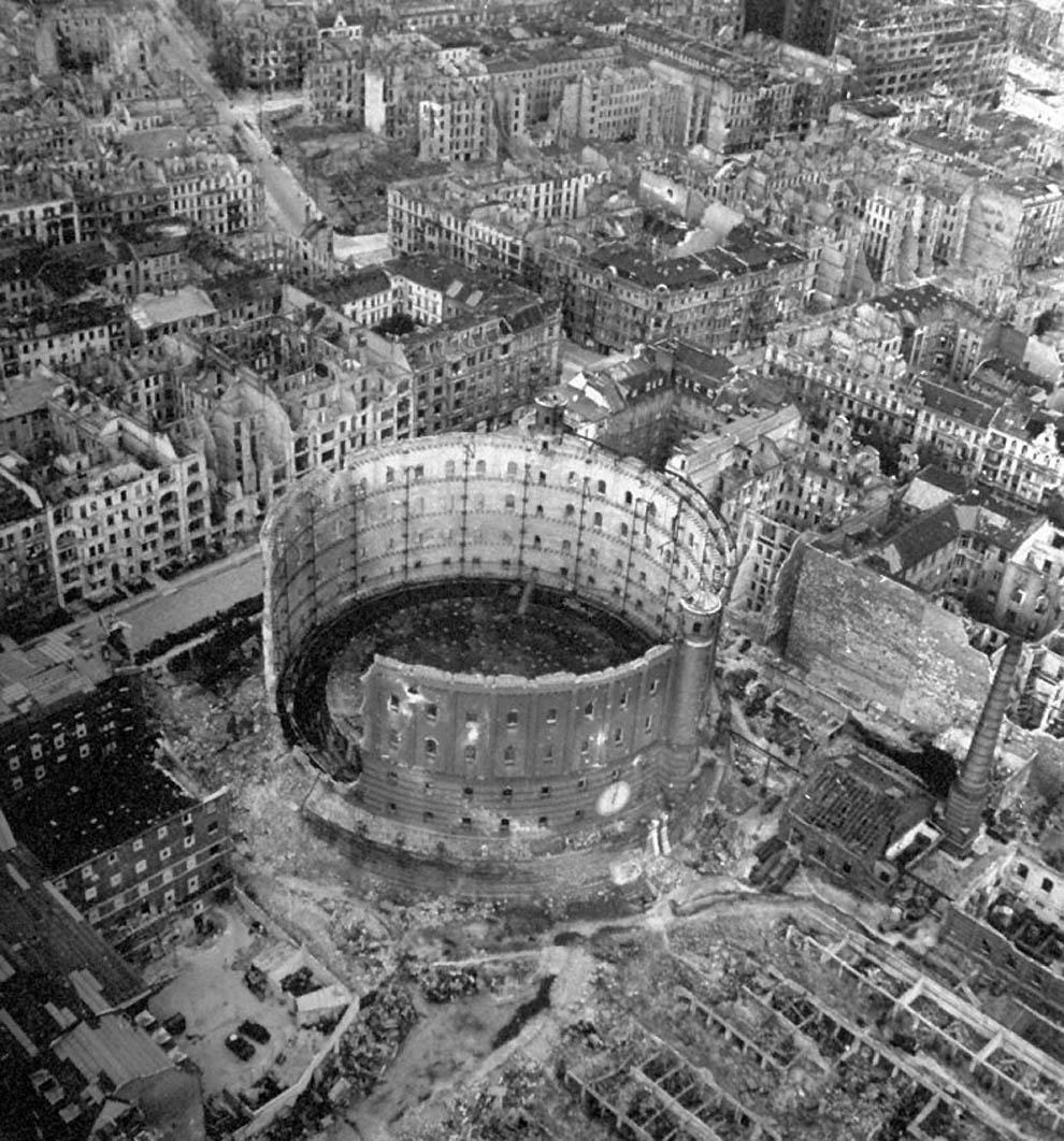 El bunker de Hitler en abril de 1945.