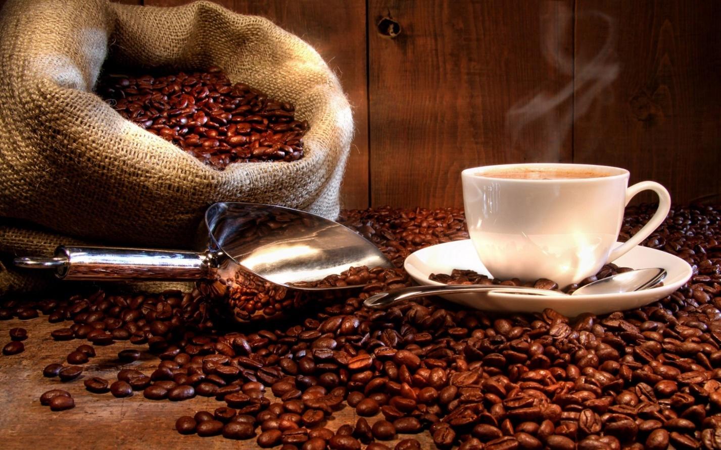 обнажения девушки с кофе
