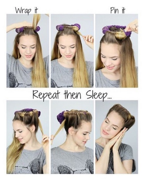 Как самой сделать крупные локоны на длинные волосы
