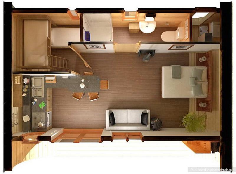 Дизайн дачного дома 6 на 6
