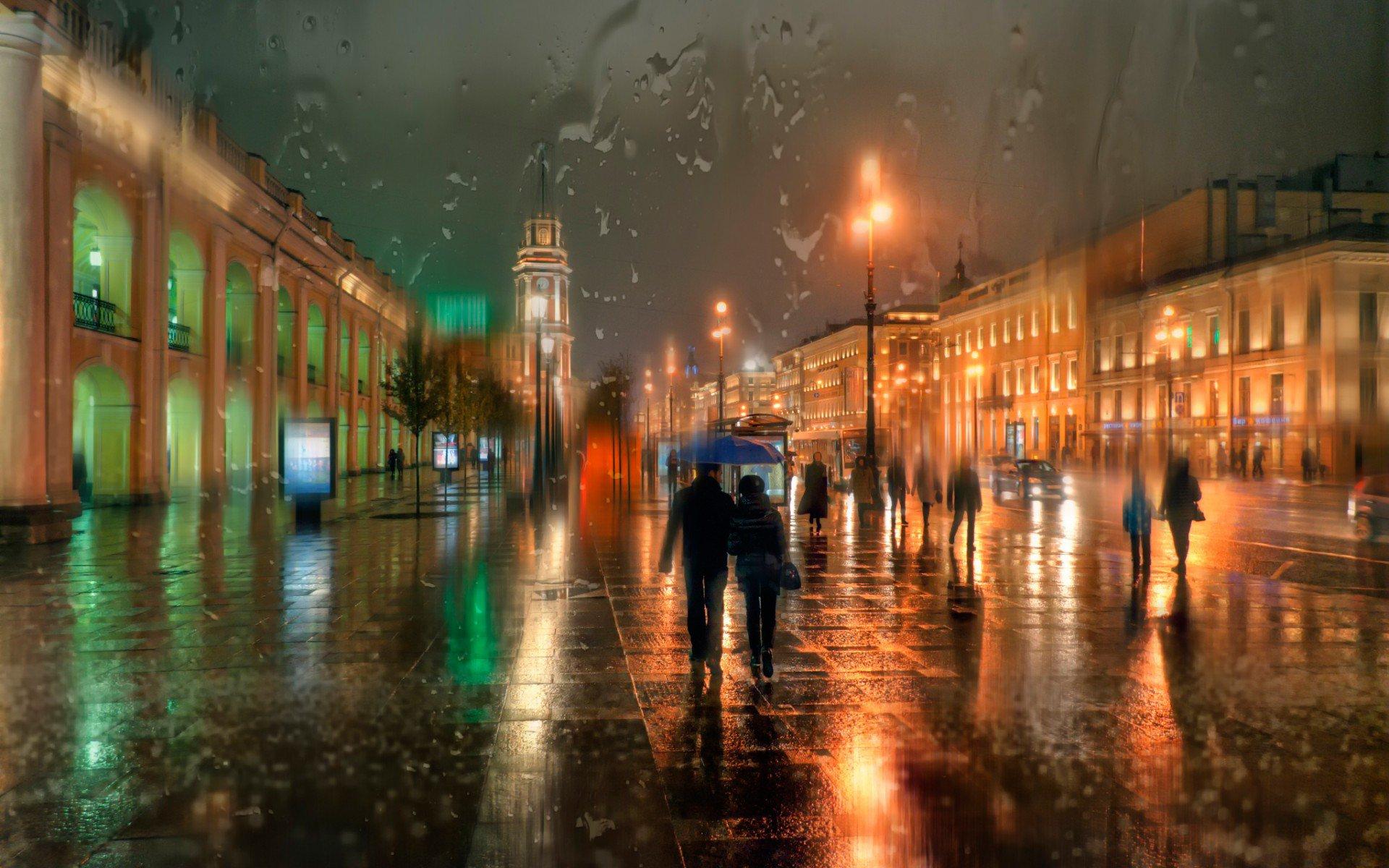 дождь питер обои для рабочего стола № 452374 без смс