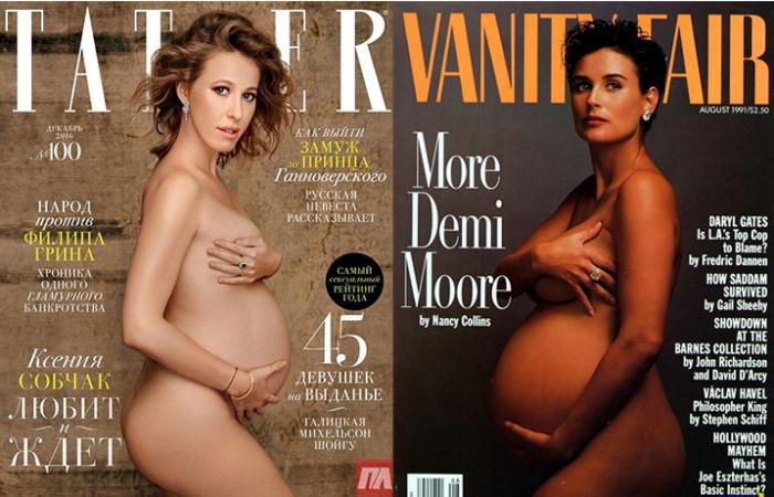 фото голой беременной собчак