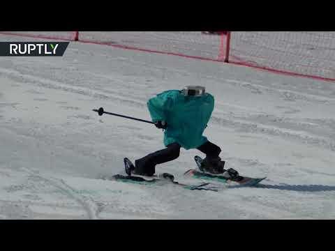 Роботы-лыжники на Олимпиаде