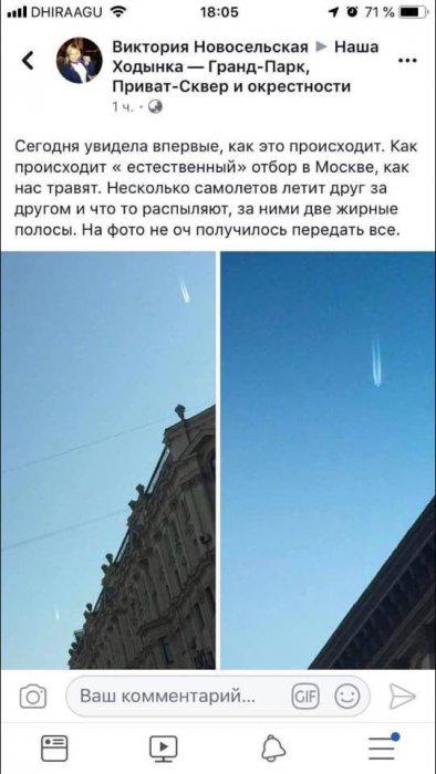 Девушка сфотографировала как травят москвичей