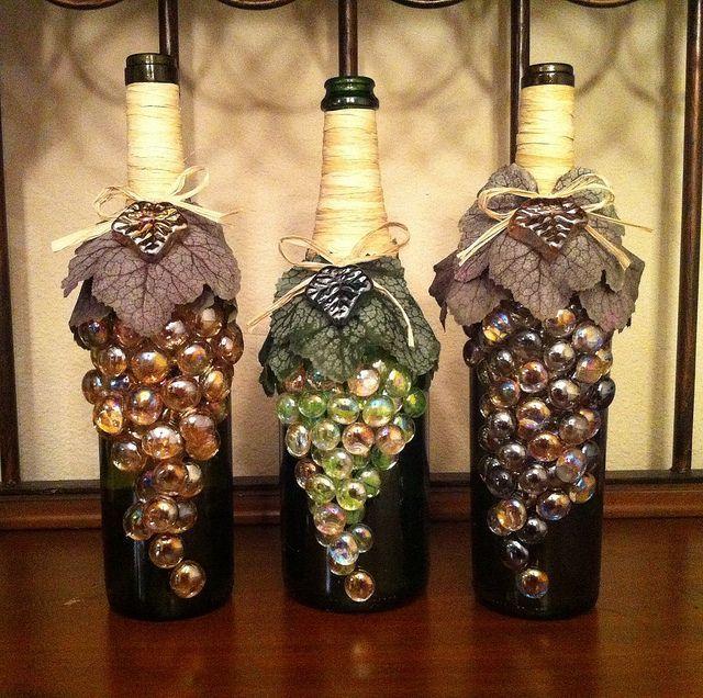 Украшаем бутылки вина своими руками