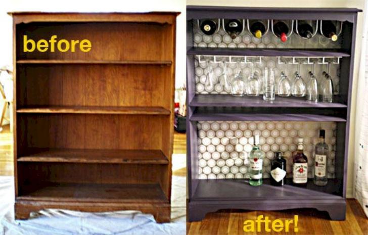16 идей превращения старых вещей в домашний мини-бар.