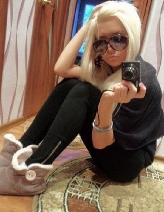 Реальное фото блондинки в домашних условиях