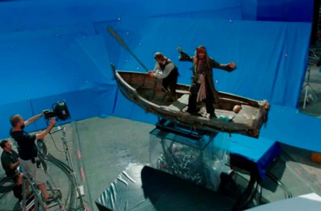 Pirates of the Caribbean before and after special effects
